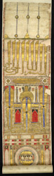'Hajj' pilgrimage certificate scroll, 14th century
